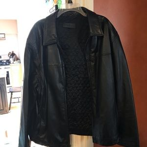 John Ashford Leather Coat